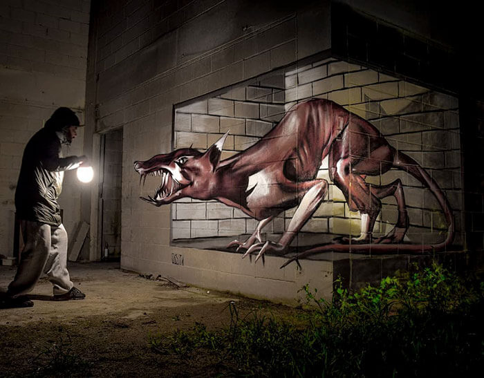 Street Artist Creates Incredible 3D Graffiti That Look Like They're Real 10