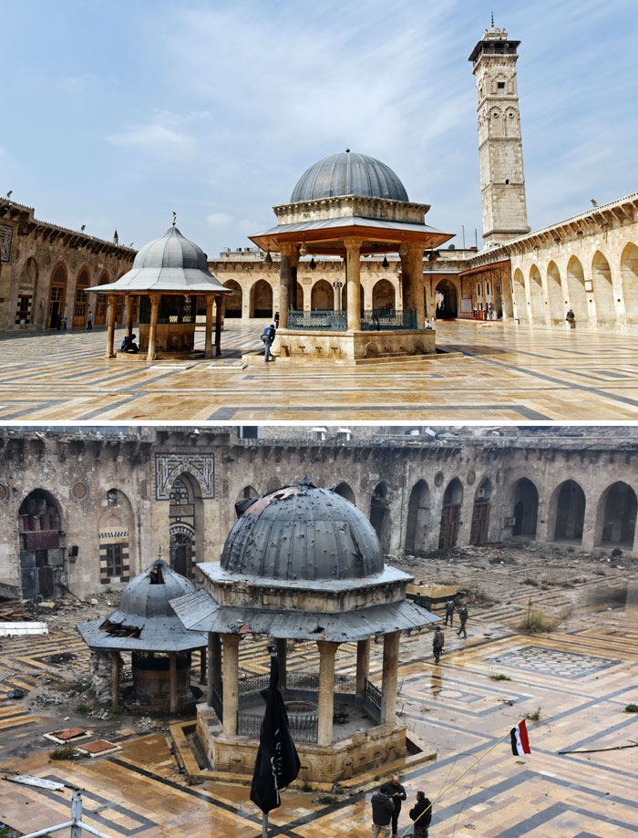 30 Before & After Pics Of Aleppo Reveal What War Did To Syria's Largest City (12)
